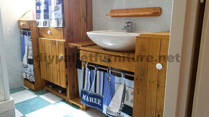 Muebles Para Baño Hechos Con Palets:Muebles para el baño realizados íntegramente con palets
