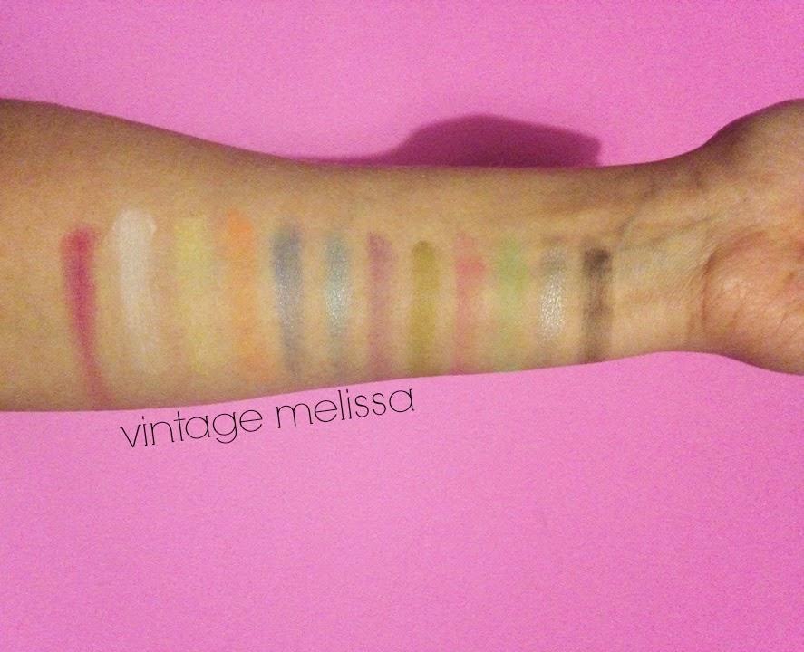 makeup revolution acid brights swatch