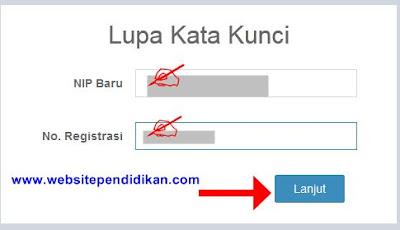 Masukkan Nomor Registrasi PUPNS