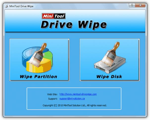 برامج لمسح البيانات من القرص الصلب قبل بيعه Drivewipe