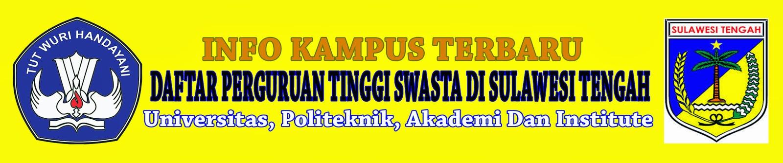 Daftar Perguruan Tinggi Swasta Di Sulawesi Tengah