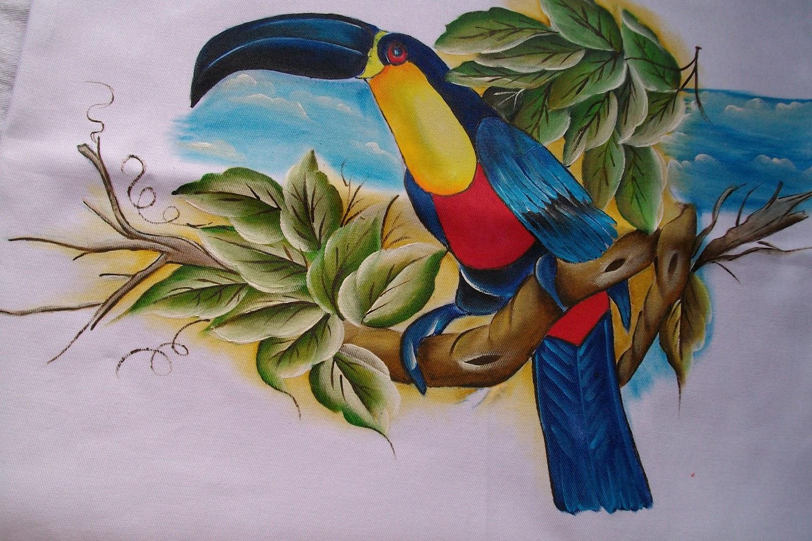 Tudo Bem Amigas Estou Postando Panos De Copas   Pintura De Tucanos