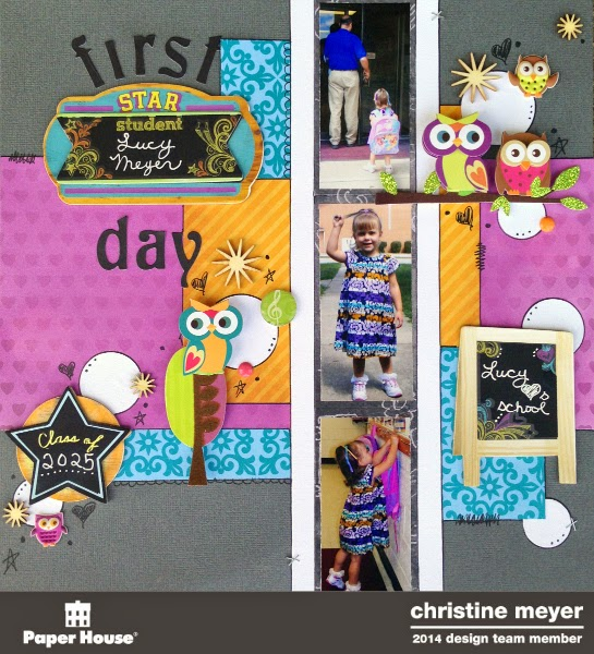 back to school layout for Paper House Productions