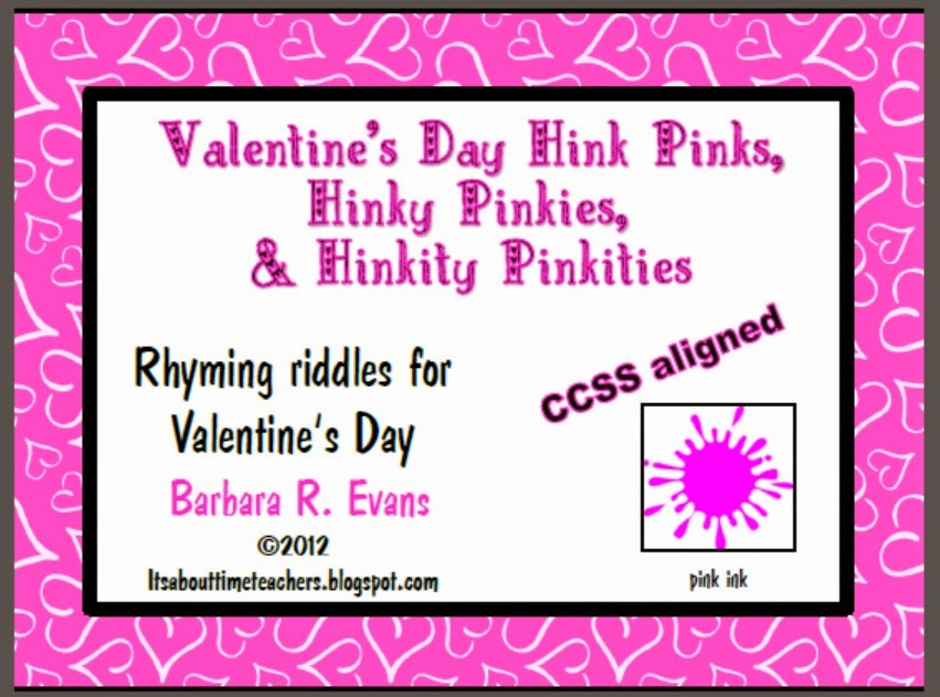 Its About Time Teachers Valentines Day Hink Pink FREEBIE – Hink Pink Worksheets