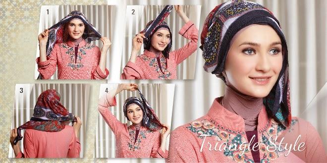 cara memakai hijab terbaru