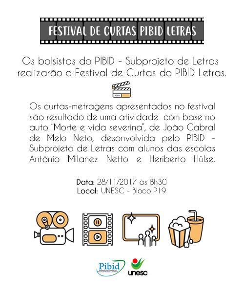 Festival de Curtas 28/11