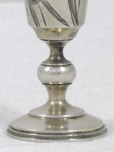 Russian Art Nouveau 84 Solid Silver Kiddush Cup or Goblet from Moscow circa 1908