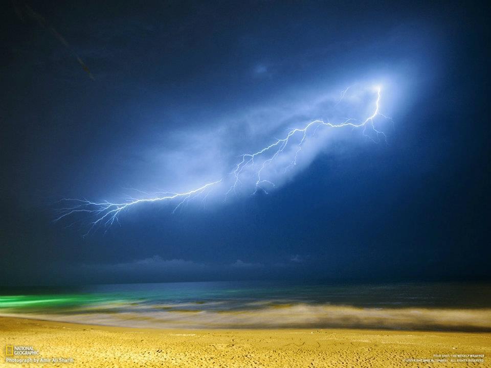 Detectan fuertes tormentas de rayos cósmicos entrando al Sistema Solar Rayo+playa+