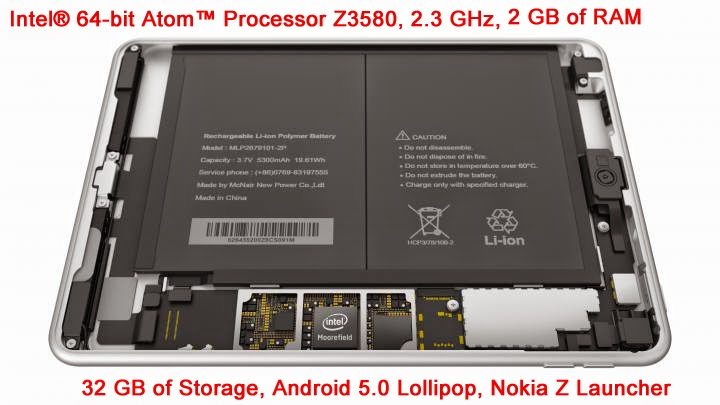 Nokia N1 Android Tablet - Hardware and Software