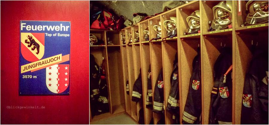 Feuerwehr auf dem Jungfraujoch