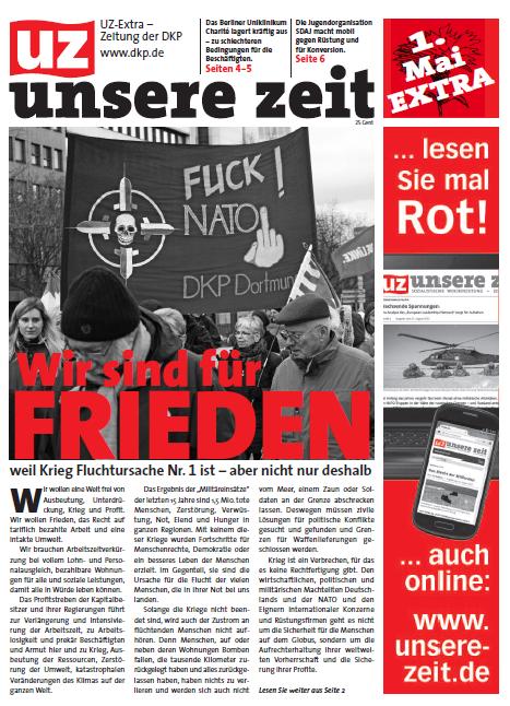 """UZ Extra """"Heraus zum 1. Mai 2016"""""""