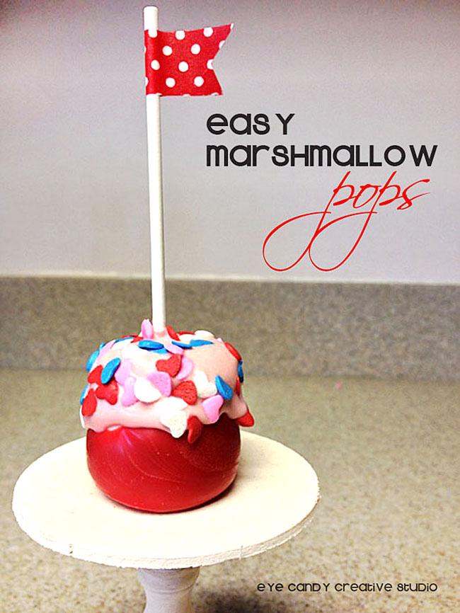 how to make marshmallow pops, mini cake stand, valentine treat idea