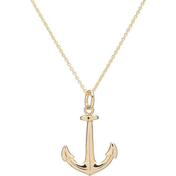 Gold Anchor Necklace5