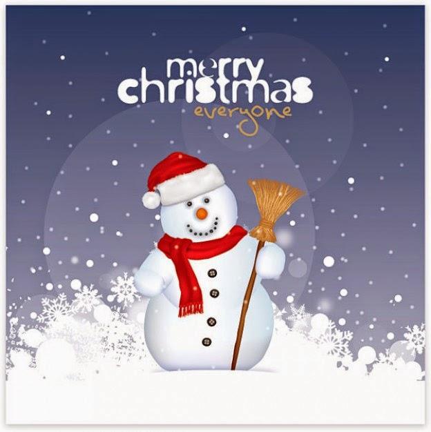 muñeco navideñocon saludo