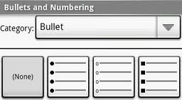 bullet and numbering blog