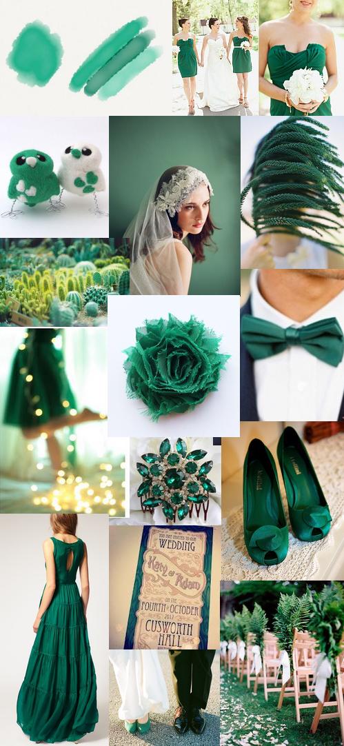 Wedding Couture Emerald Green Moodboard