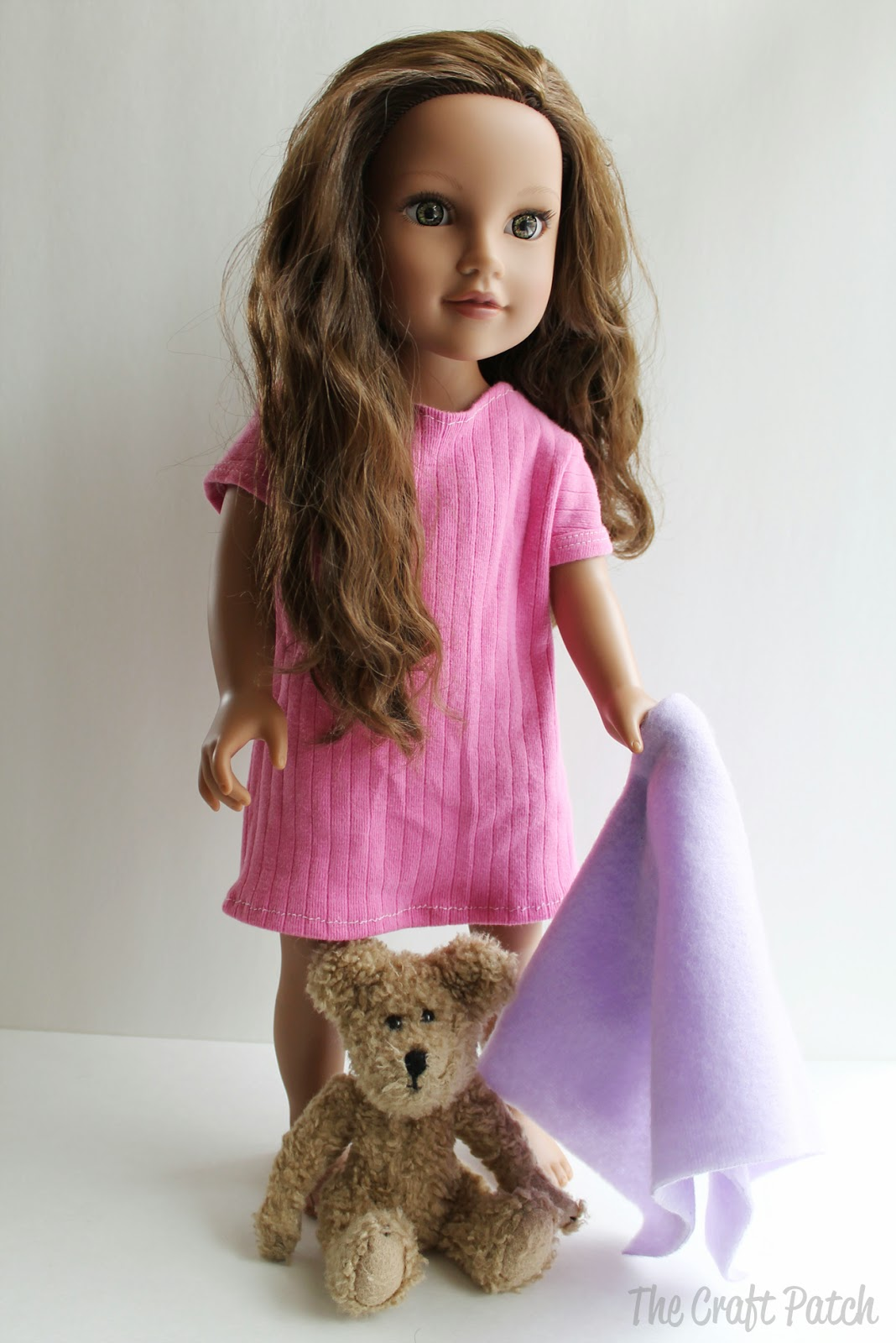 American Girl Doll Basic Knit Dress Pattern and Tutorial ...