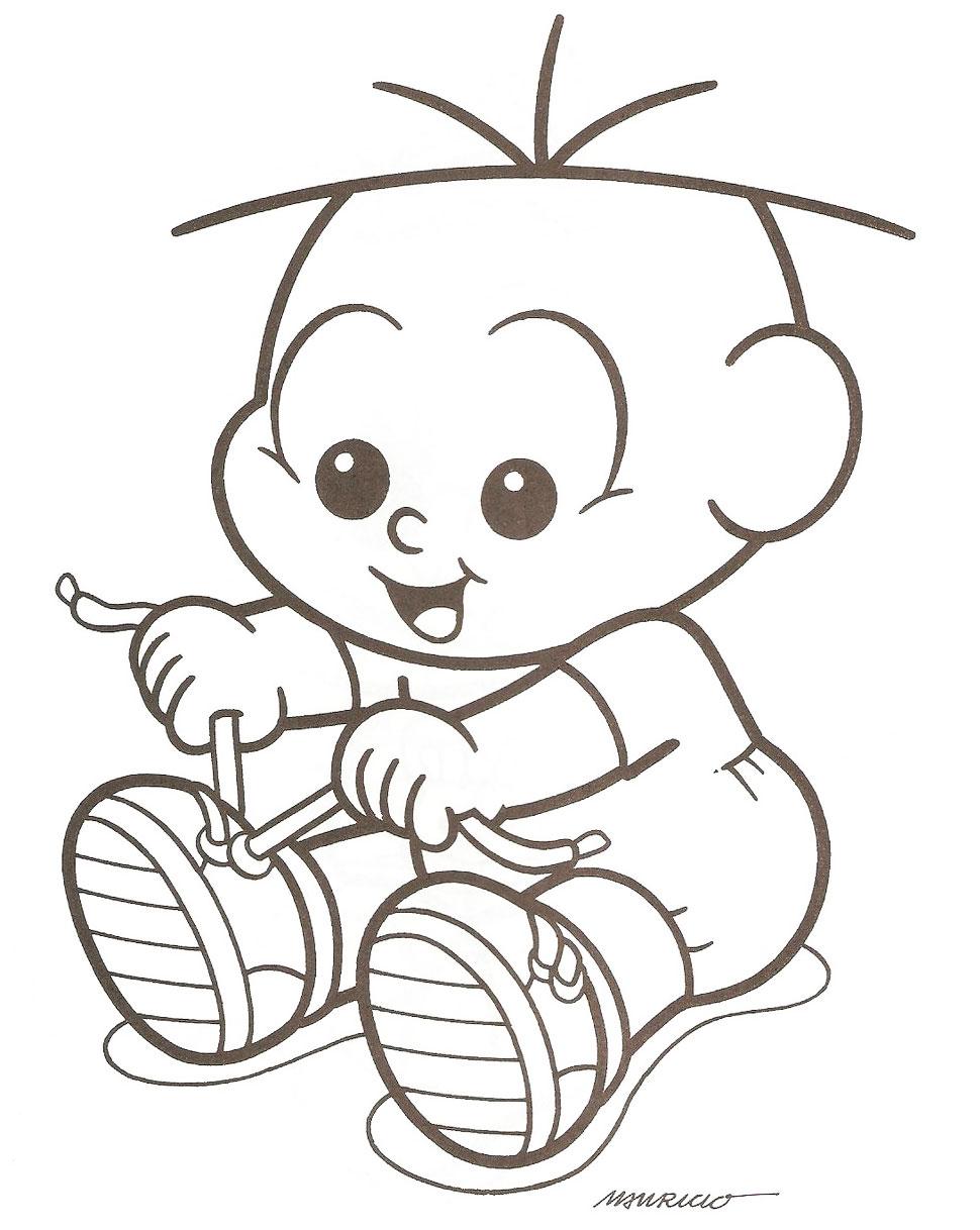 Imagens para colorir do Cebolinha quando era bebê .