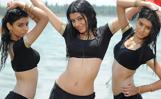 Shobhna wearing Wet Black Blouse and Petticoat Lovely Milky White Body show off