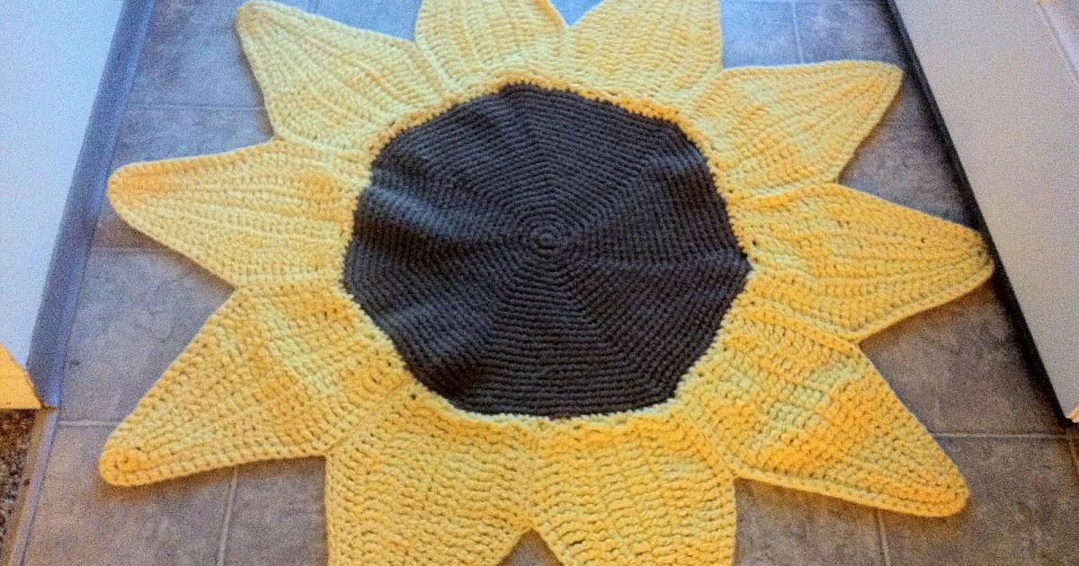 Design Adventures Sunflower Rug Pattern On Etsy Amp Craftsy