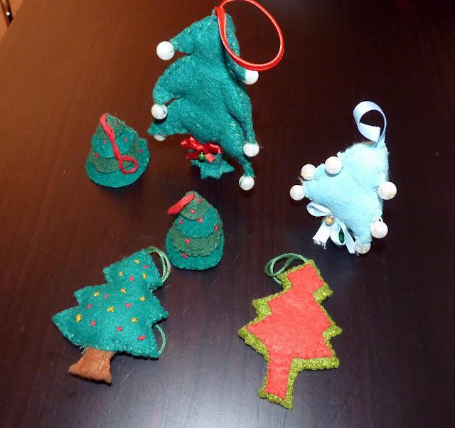 Árboles de Navidad fieltro