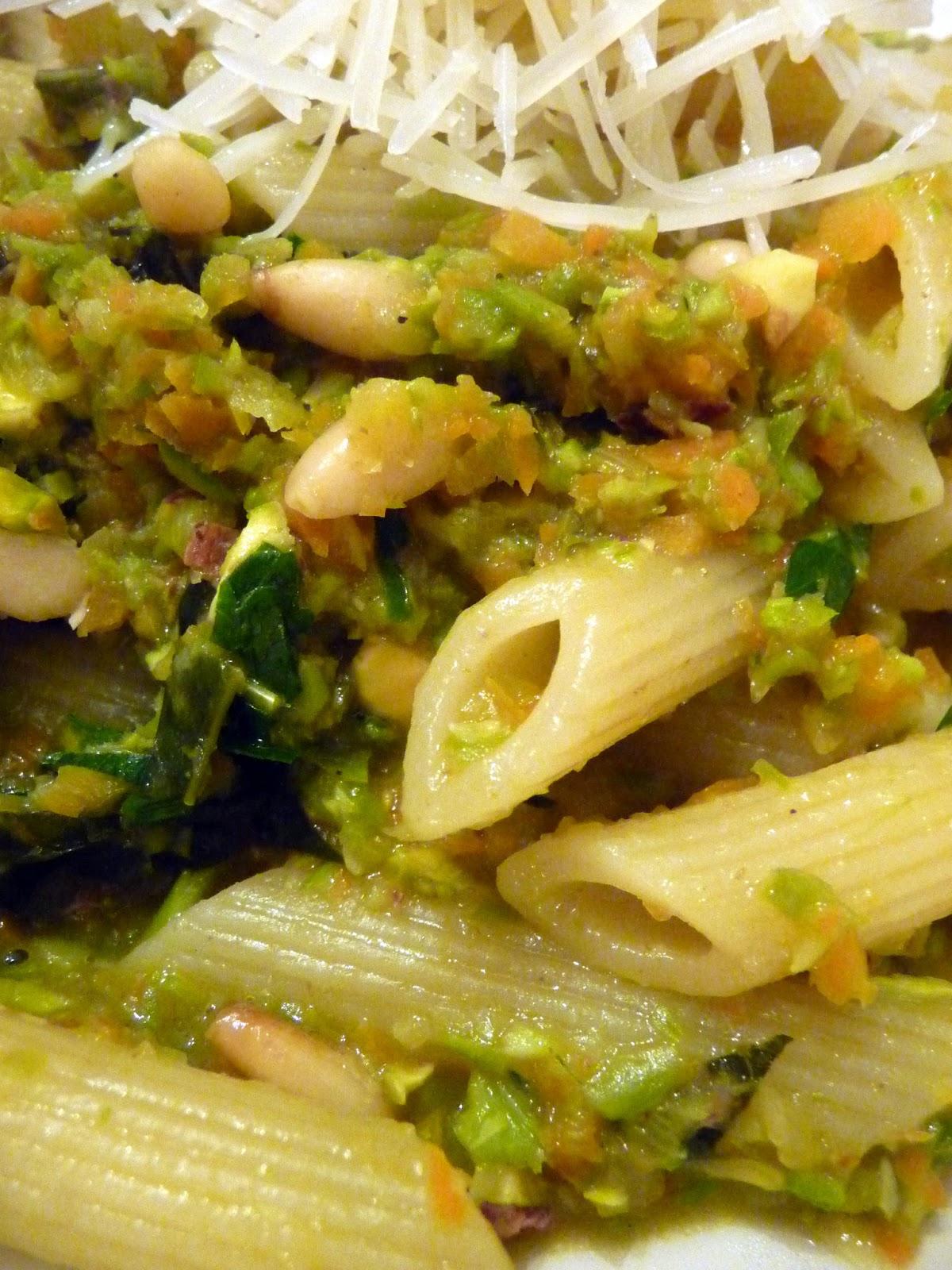 Pistachio Pesto On Penne Recipe — Dishmaps