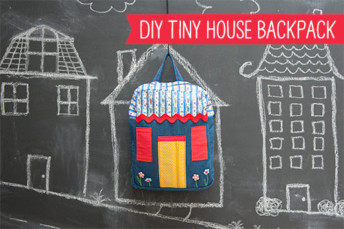 DIY Tiny House Backpack tutorial! So adorable!