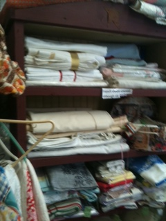 French Antique linens and fabric