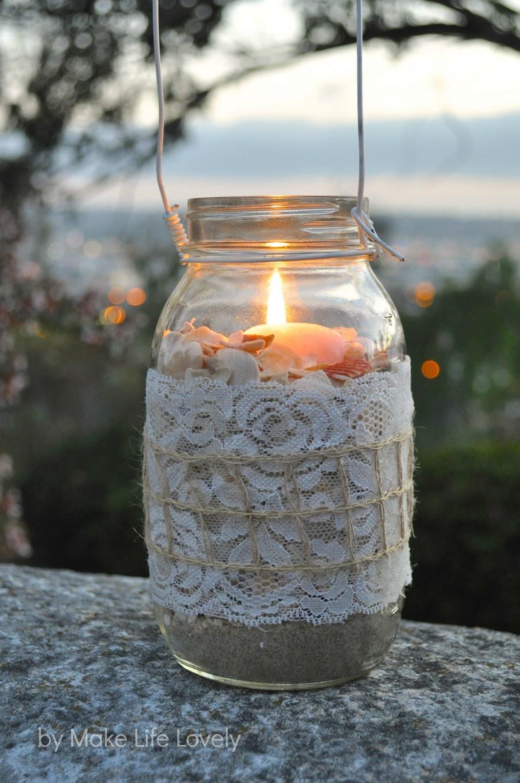 Diy mason jar lanterns make life lovely for Homemade lantern lights