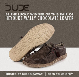 Enter the Wally Chocolate Loafers Giveaway. Ends 11/11.