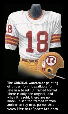 Washington Redskins 1970 uniform