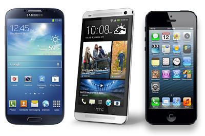 Samsung Galaxy S4 vs iPhone 5 VS HTC One