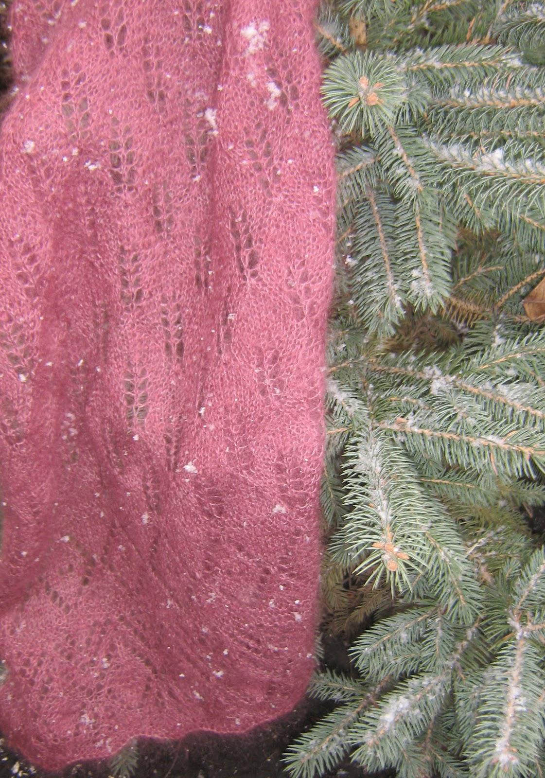 Палантин Листья сирени / Lilac leaf