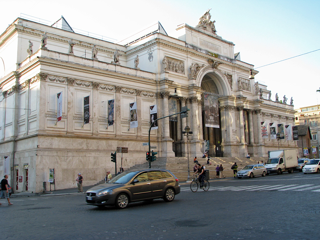The bell curve of life rome our neighborhood for Palazzo delle esposizioni rome italy