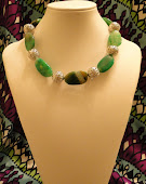 Green agate stone