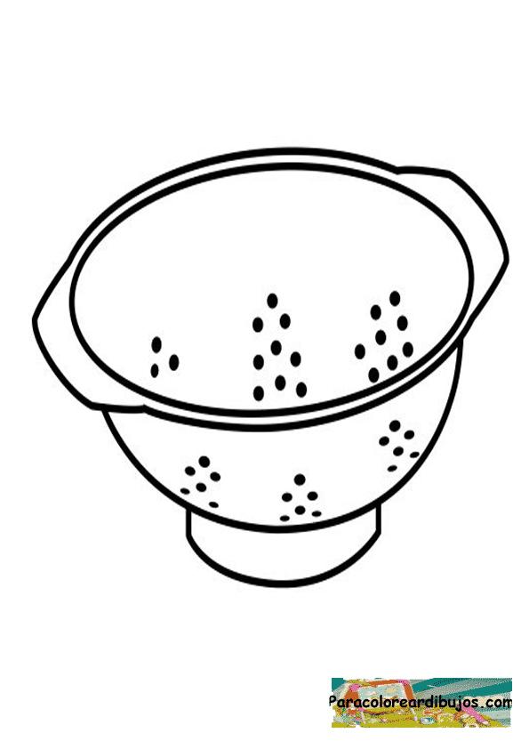 Pin dibujos utensilios de cocina para colorear on pinterest for Utensilios de cocina imagenes para imprimir