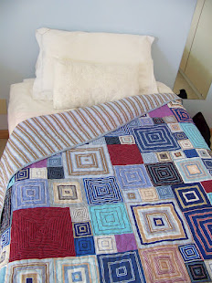 Finished Shirt-stripe boxes quilt