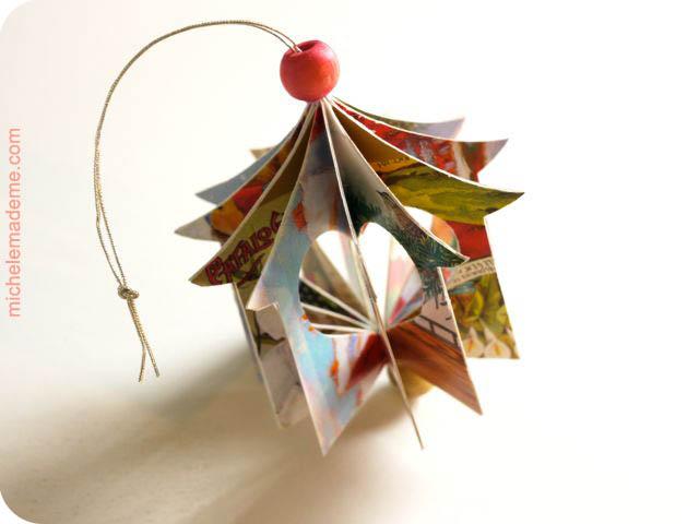 Домики-подвески из открыток Heart+House+Ornament3
