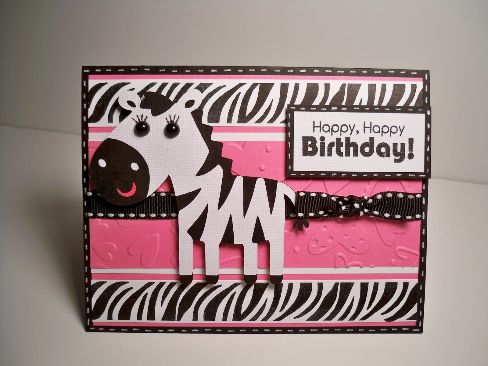 Card Creations More By C Birthday Card Zebra