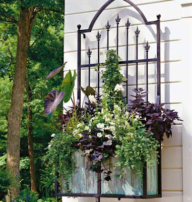 wrought iron wall container