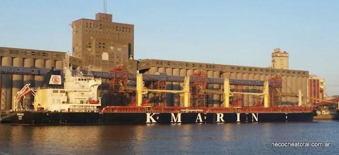 Récord de carga y calado en Puerto Quequén