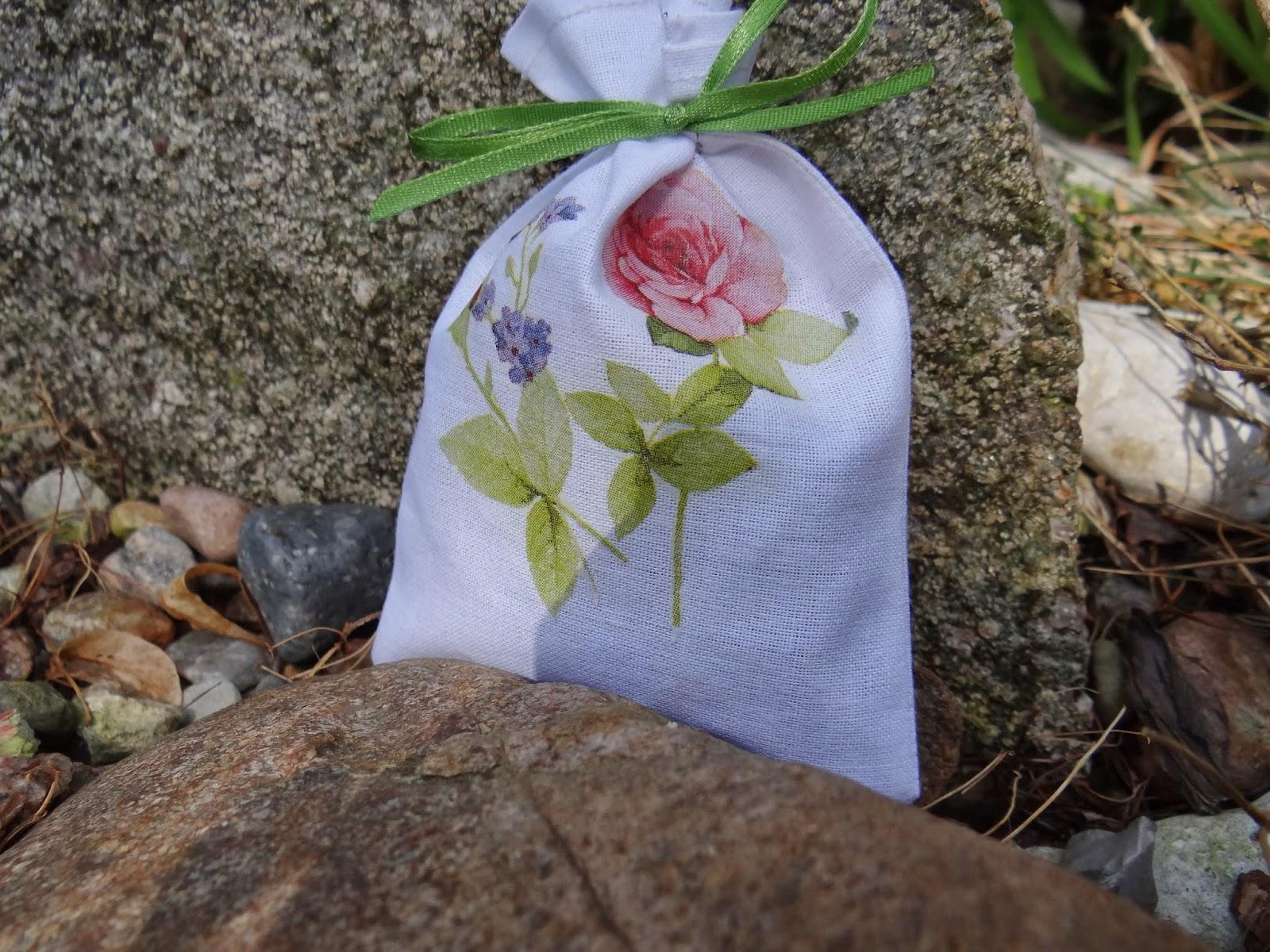woreczki zapachowe, lawenda, róża, mięta