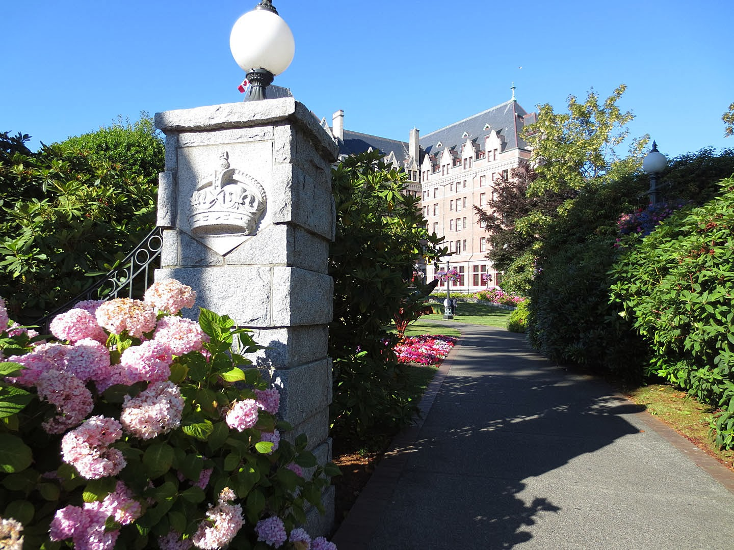 Walkway to the Empress Hotel