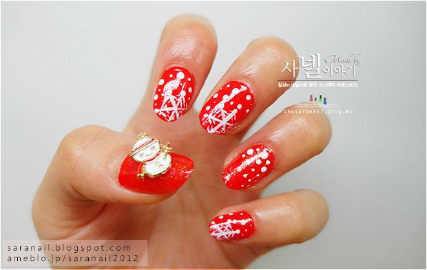 nail art with red color - nailarts