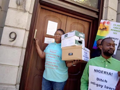 Nigerian gay activists in UK want Buhari to repeal Gay law in independence day protest