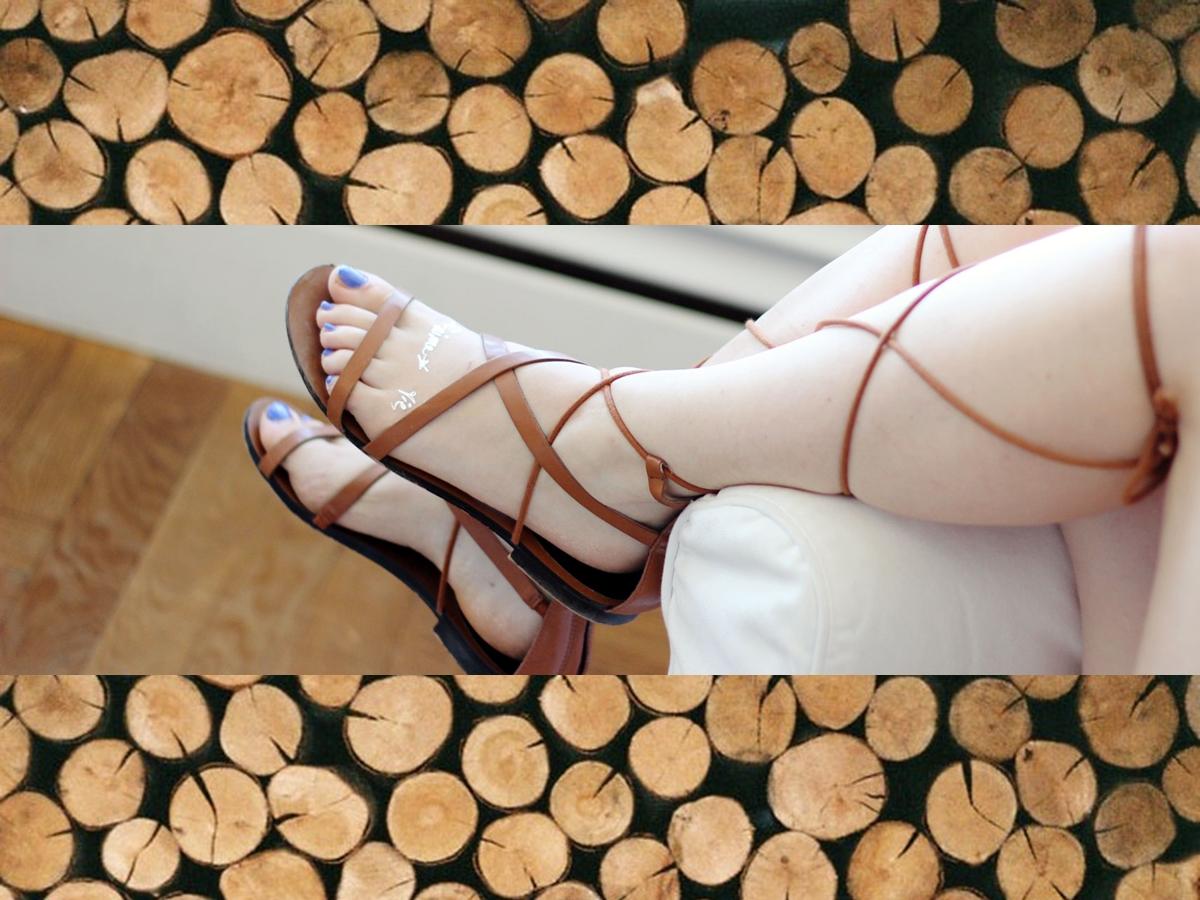 lace Sandals, Schnürsandalen, Gladiatoren, Zara, wood, holz
