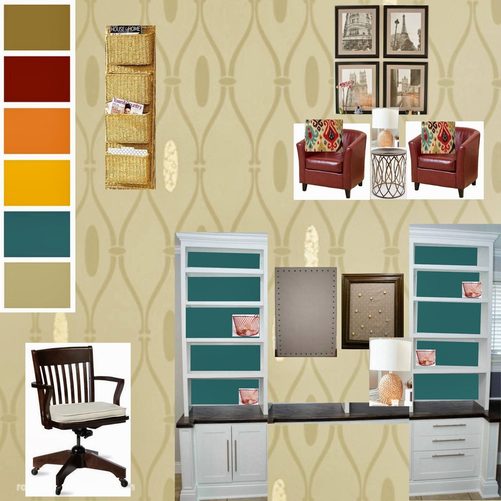 southern color new interior design project office makeover