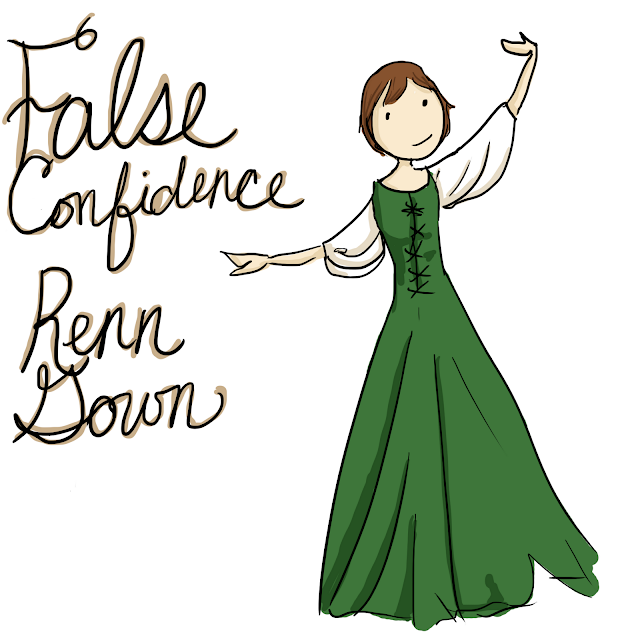 False Confidence Renn Gown Quills and Frills