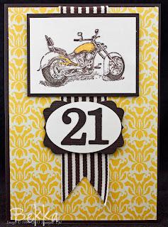 Stampin' Up! Motocycle Card