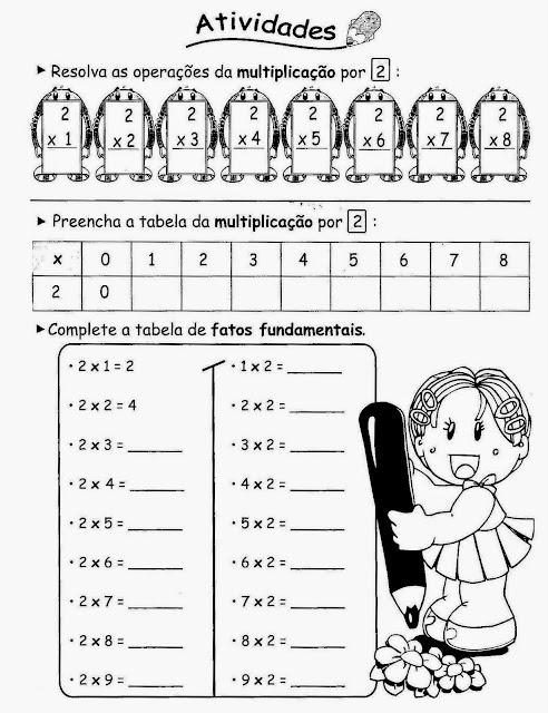 Atividades matemática 2 ano fundamental multiplicação